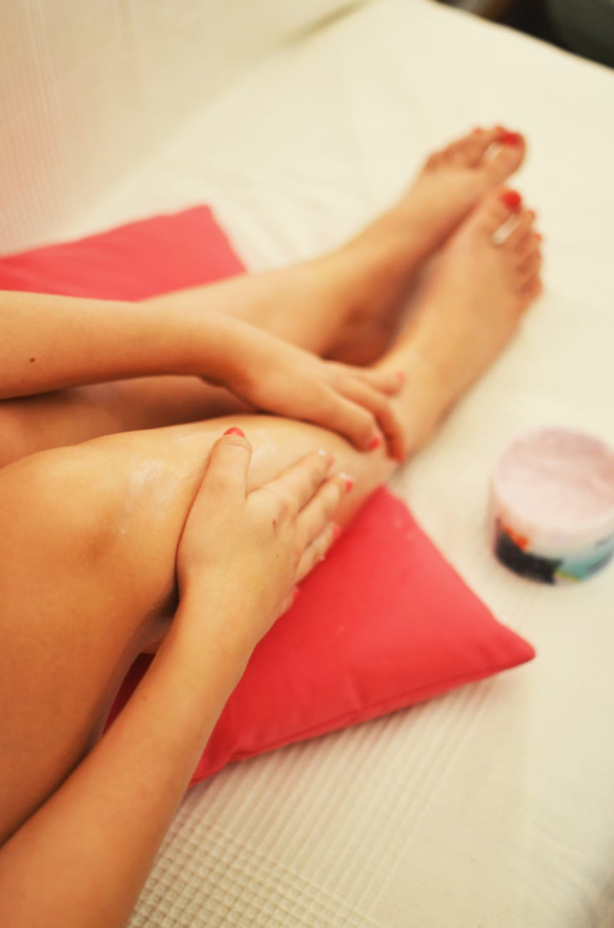 woman legs relaxation beauty